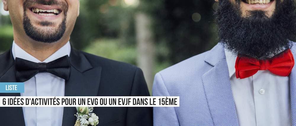 enterrement de vie de garçon ou de vie de jeune fille à Paris 15