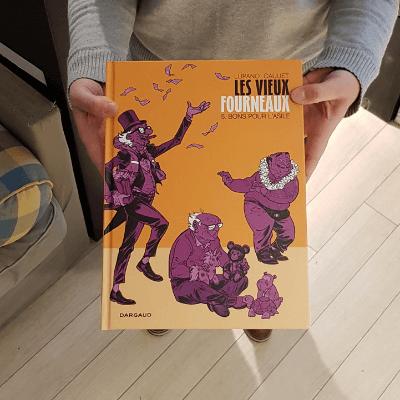 La BD les vieux fourneaux à la librairie l'Ecailler dans le 15ème arrondissement de Paris