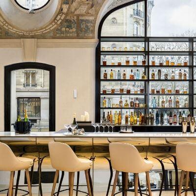 L'impressionnante salle du bar Joséphine de l'hôtel Lutetia, Paris 6e