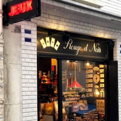 La boutique de jeux Rouge et Noir dans le 6e arrondissement de Paris