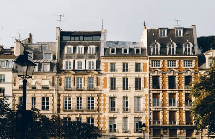 Des immeubles à Paris