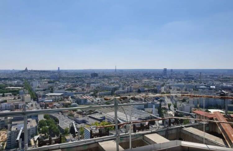 Vue panoramique en haut de la tour Pleyel