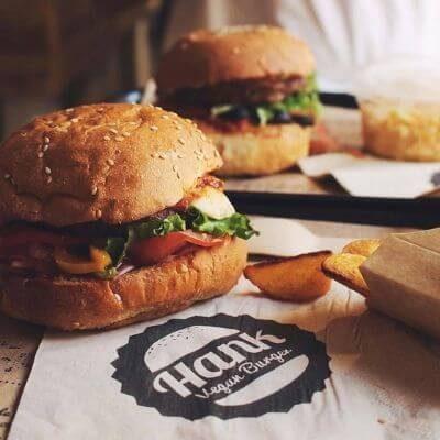 Le burger vegan de Hank Burger à Paris