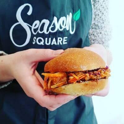 Le burger vegan de Season Square à Paris